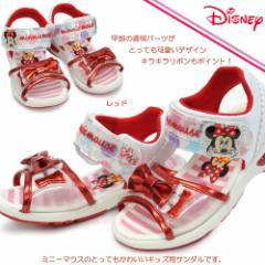 【即納】ディズニー ミニー C1167 子供サンダル マジック式 ディズニー ミニーマウス
