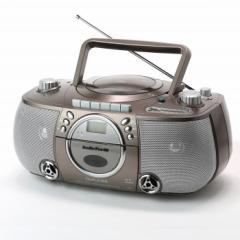 【即納・送料無料】とうしょう 速度調整&カラオケ録音機能付CDラジカセ T-CDK-705
