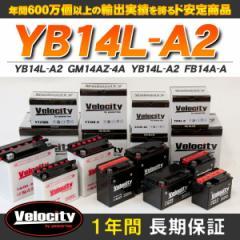 バイクバッテリー 蓄電池 YB14L-A2 GM14AZ-4A YB14L-A2 FB14A-A 互換対応 1年保証 開放式 液別(液付属)