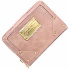サマンサタバサ プチチョイス ラウンドファスナー二つ折り財布 スモークピンク 新品 未使用 プレート ビス Samantha Thavasa Petit Choic
