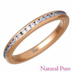 Natural Pure ナチュラルピュア ノンアレルギー ステンレス GP フルエタニティ リング 指輪 クリスタル レディース 7〜13号 NP-106