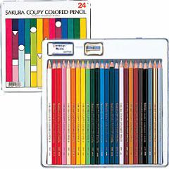 サクラクレパス クーピー色鉛筆24色(スタンダード) PFY24 J51-183287