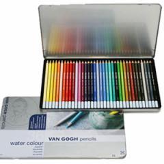サクラクレパス ヴァンゴッホ水彩色鉛筆36色セット(メタルケース入) J51-276607
