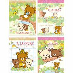 (3) リラックマ コリラックマと新しいお友達テーマ クロスメモ 4種セット MW08701