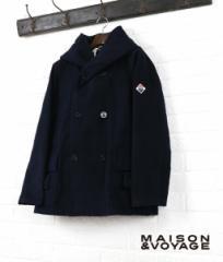 MAISON & VOYAGE(メゾン エ ボヤージュ) コットンモールスキンフード付きピーコート・54-08-44-08203・0171402