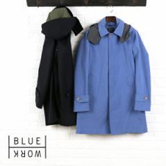 Blue Work(ブルーワーク) ポリエステル綿 ボンディングフード付き ステンカラーコートREGENT COAT BONDING・54-08-61-08