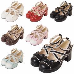 【ゴスロリ ロリィタ 靴】s530 ゴスロリ♪ロリータ♪パンク♪コスプレ♪コスチューム♪メイド