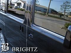 BRIGHTZ バモス HM1-2 HM1 HM2 超鏡面クロームメッキステンレスウィンドウモール 4PC