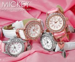 ミッキー 腕時計 ミッキーマウス レディース レディス スワロフスキー キャラクター ウォッチ ミッキ- 腕時計 うでどけい  ladies 【Disn
