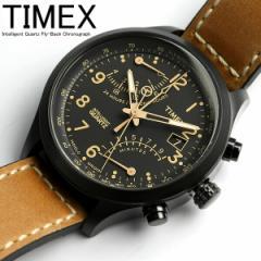 タイメックス TIMEX 腕時計 メンズ クロノグラフ インテリジェント レーシング フライバック T2N700 ミリタリー キャメル×ブラック 革ベ