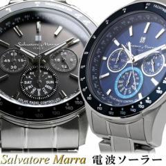 サルバトーレマーラ 電波 ソーラー 腕時計 メンズ...