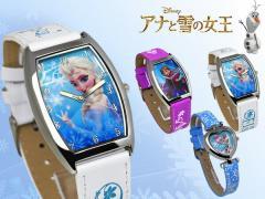 【Disney】【ディズニー】 アナと雪の女王-FROZEN- アナ エルサ オラフ キャラクター腕時計 レディース キッズ nfc-140007 うでどけい 女