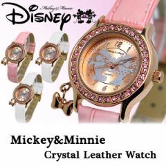 ミッキー 腕時計 ミッキーマウス レディース スワロフスキー キャラクター ウォッチ ミッキー 腕時計 うでどけい 女性用【Disney】Mickey