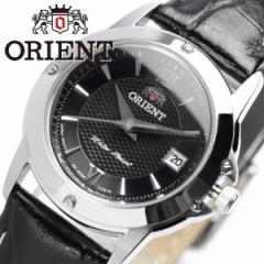 【ORIENT/オリエント】 レディース 腕時計 ウォッチ レザーベルト 革ベルト ブラック 日付表示 カレンダー 5気圧防水 レディス 女性用