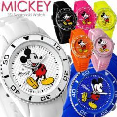 ミッキー 腕時計 ミッキーマウス シリコン ラバー レディース レディス メンズ スワロフスキー キャラクター ウォッチ うでどけい ladies