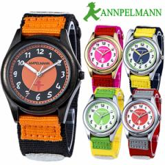 AMPELMANN アンぺルマン キッズ腕時計 子供用 カラフル クオーツ 日常生活防水 アロイ ナイロン 反射テープ マジックテープ ディスク型秒