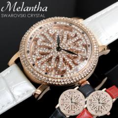 melantha 腕時計 レディース スワロフスキー クリ...