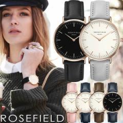 【送料無料】【100%本物保証】ROSE FIELD ローズフィールド 腕時計 レディース 革ベルト レザー ウォッチ ローズゴールド ピンク ホワイ