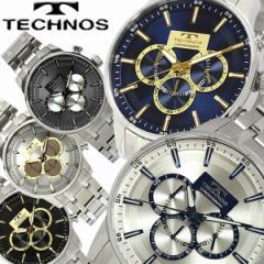 【送料無料】TECHNOS テクノス メンズ 腕時計 ウォッチ うでどけい クオーツ 5気圧防水 クロノグラフ ステンレス T6458