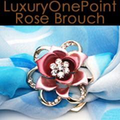 [送料無料]さりげない高級感が品位醸し出す薔薇ワンポイント好印象ブローチブローチピンスカーフリングフォーマル正装[納期:約2〜3週間]