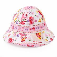 ベビー帽子 ハット お花大好きプリティ動物フレンド(ピンク) 日本製B20006