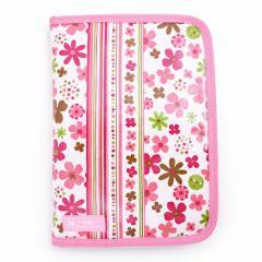母子手帳ケース(ファスナータイプ) スカンジナビアのフラワーパーク(ピンク) 日本製 B2801200