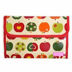 母子手帳ケース(ジャバラタイプ) おしゃれリンゴのひみつ(アイボリー) 日本製 B2901300