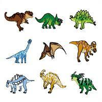 お名前シール(スタンダード アイロン伸縮 96ピース) 発見!探検!恐竜大陸 日本製 N6306104