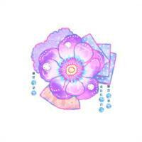 お名前シール(my目じるし アイロン 96ピース) フラワー・アネモネ 日本製 N6439901