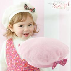 *スウィートガール*リボン付きベレー帽/赤ちゃん ベビー ベビーサイズ ベビー服 新生児 男の子 女の子 保育園