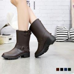 送料無料 雨の日もおしゃれを楽しみたい方へ【エンジニアブーツ風レインブーツ】 メンズ/レディース 靴 シューズ 長靴 大きいサイズ