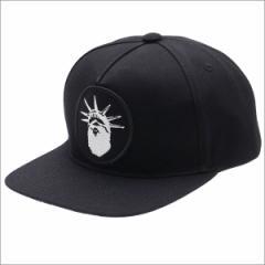 (新品)A BATHING APE (エイプ) NYC NY CAMO SNAP BACK CAP (キャップ) BLACK 1C70-180-003 250-000400-011-(ヘッドウェア)