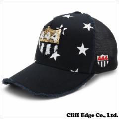 (新品) YOSHINORI KOTAKE(ヨシノリコタケ)  444ロゴ STAR メッシュキャップ (CAP)  BLACK 251-000950-011 (ヘッドウェア)