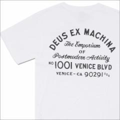 (2016新作・新品)Deus ex Machina(デウス エクス マキナ)  Venice Address Tee (Tシャツ)  WHITE 200-007071-030+(半袖Tシャツ)