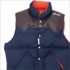 (新品)RHC Ron Herman(ロンハーマン) x Rocky Mountain Featherbed Christy Vest NAVY 226-000185-037x(OUTER)