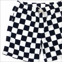 (2017新作・新品)RHC Ron Herman(ロンハーマン) x STANDARD CALIFORNIA Checker Shorts WHITExNAVY 244-000696-037+(パンツ)