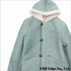 (新品)SUPREME(シュプリーム) Schott Shearling Hooded Coat (ムートンコート) LIGHT BLUE 230-000936-034 (OUTER)