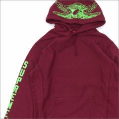 (新品)SUPREME(シュプリーム) x ANTIHERO(アンタイヒーロー) Hooded Sweatshirt (スウェットパーカー) BURGUNDY 211-000428