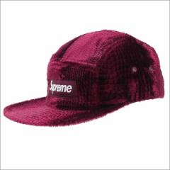 (新品)SUPREME(シュプリーム) Croc Embossed Velvet Camp Cap (キャンプキャップ) BURGUNDY 265-000744-113+(ヘッドウェア)