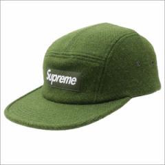 (新品)SUPREME(シュプリーム) Harris Tweed Featherweight Wool Camp Cap GREEN 265-000747-015+(ヘッドウェア)