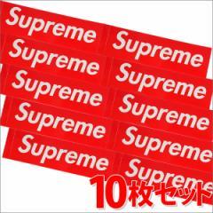 (新品)SUPREME(シュプリーム) Box Logo Sticker (10枚セット)(ボックスロゴ)(ステッカー) RED 290-000699-013-10+(グッズ)