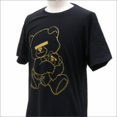 (2016新作・新品)UNDERCOVER (アンダーカバー)  GLITTER PRINT BEAR TEE (Tシャツ)  BLACKxGOLD 200-007185-051x(半袖Tシャツ)