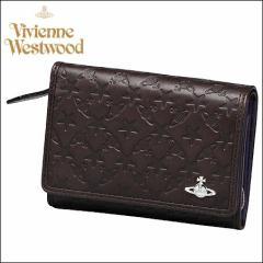 送料無料 正規品 Vivienne Westwood ヴィヴィアン ウエストウッド モノグラム LF札入 ダークブラウン