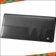 正規品 Vivienne Westwood ヴィヴィアン ウエストウッド VWステッチ かぶせ長財布 ブラック×ブラック
