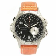 ハミルトン 腕時計 メンズ HAMILTON H77612933 カーキ ETO KHAKI ラバー ブラック/シルバー/オレンジ ウォッチ/時計