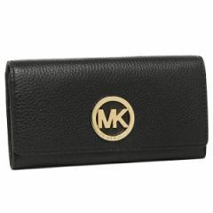【あす着】マイケルマイケルコース 財布 MICHAEL MICHAEL KORS 32F2GFTE3L 001 FULTON CARRYALL 長財布 BLACK/GOLD