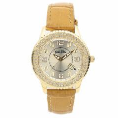 フォリフォリ 腕時計 レディース FOLLI FOLLIE WF5G092STICA クラシック ジルコニア 腕時計 ウォッチ キャメル/シャンパンゴールド tem_b