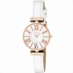 【あす着】フォリフォリ 時計 レディース  WF13B014SSW-WH ミニ ダイナスティ ジルコニア 腕時計 ウォッチ ホワイト/ピンクゴールド