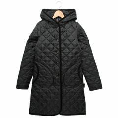 【あす着】ラベンハム レディース キルティングジャケット BRUNDON フード付き ロング丈 BLACK ブラック