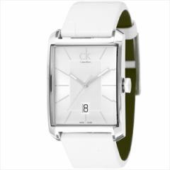 【あす着】カルバンクライン 時計 メンズ CALVIN KLEIN K2M21120 ウィンドウ 腕時計 ウォッチ ホワイト/シルバー tem_b